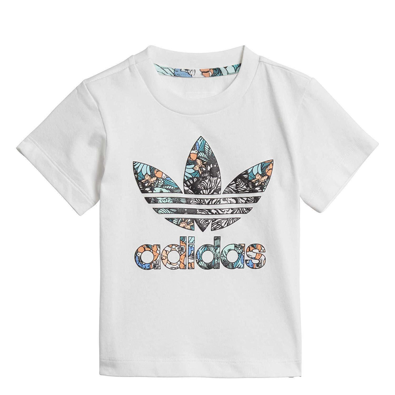 adidas adidas zoo tee t-shirt bambina bianca d98806