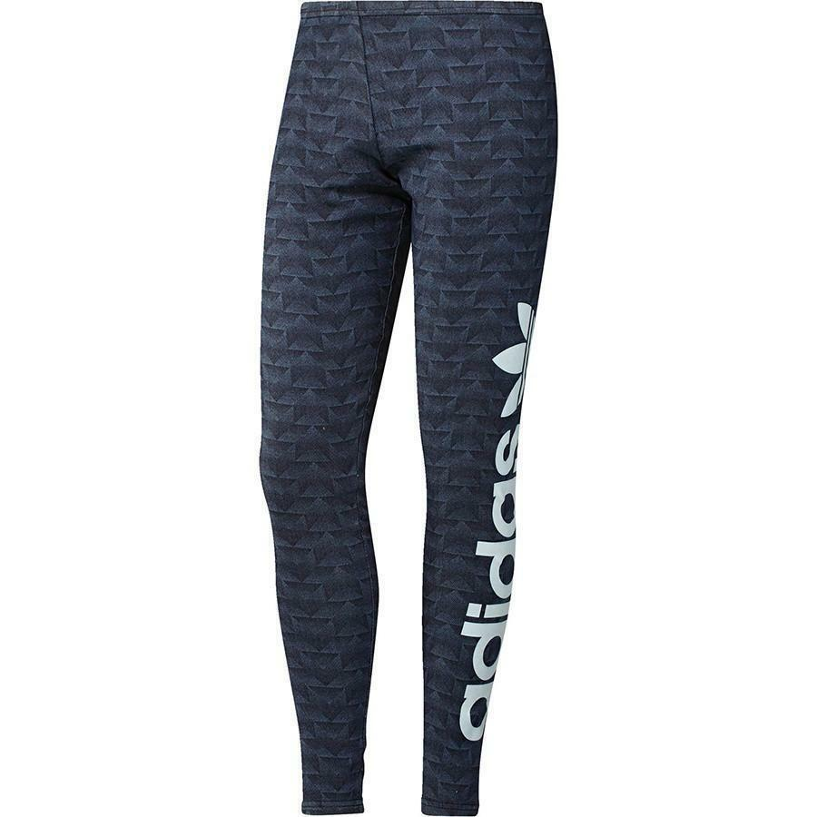 adidas adidas track denim leg leggings donna jeans aj7180