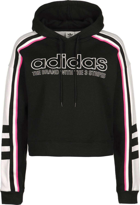 newest 82e69 54cd4 Details zu ADIDAS Sweatshirt Damen Kapuzensweatshirt Schwarz DH4214