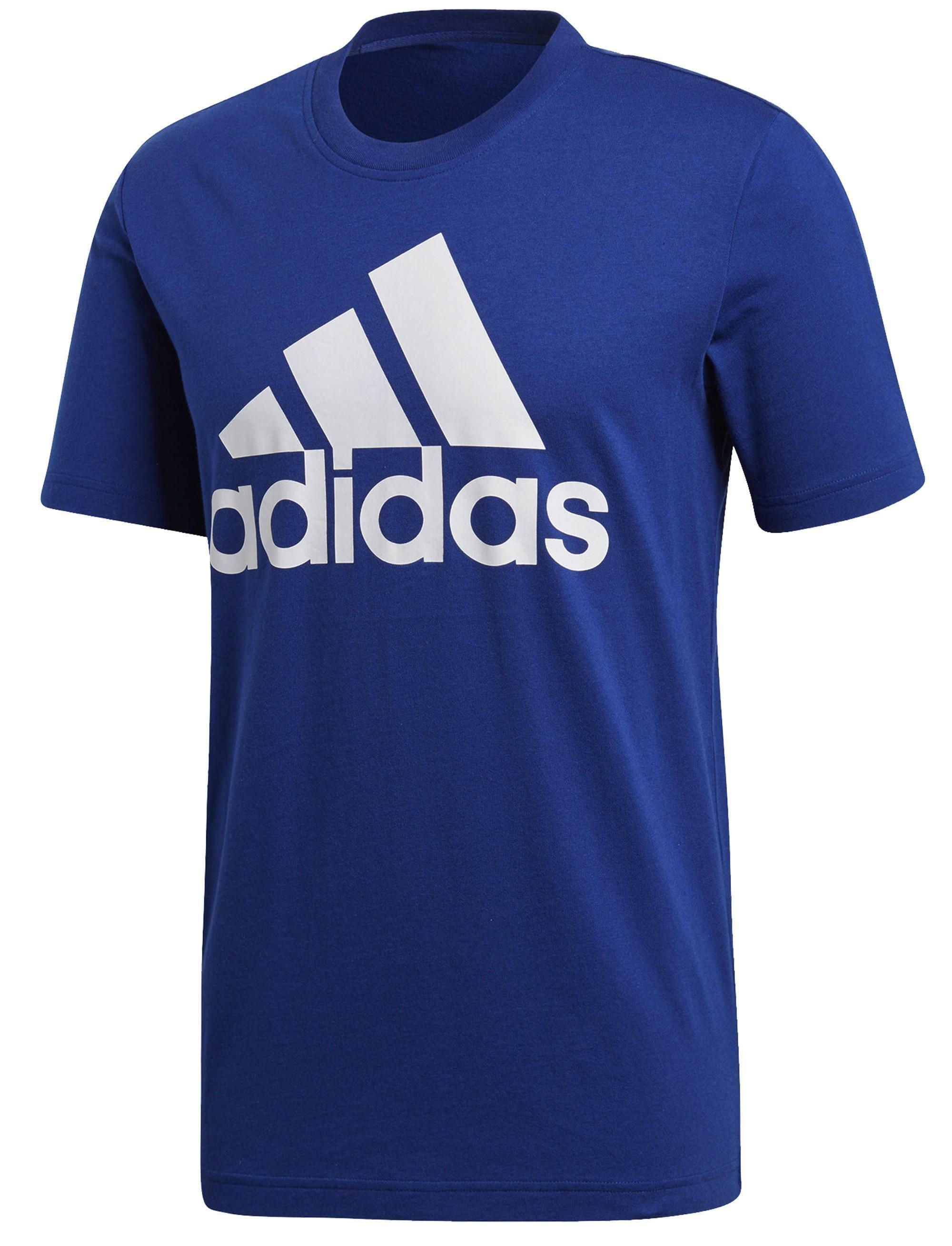 adidas adidas ess linear t-shirt uomo blu cz7510