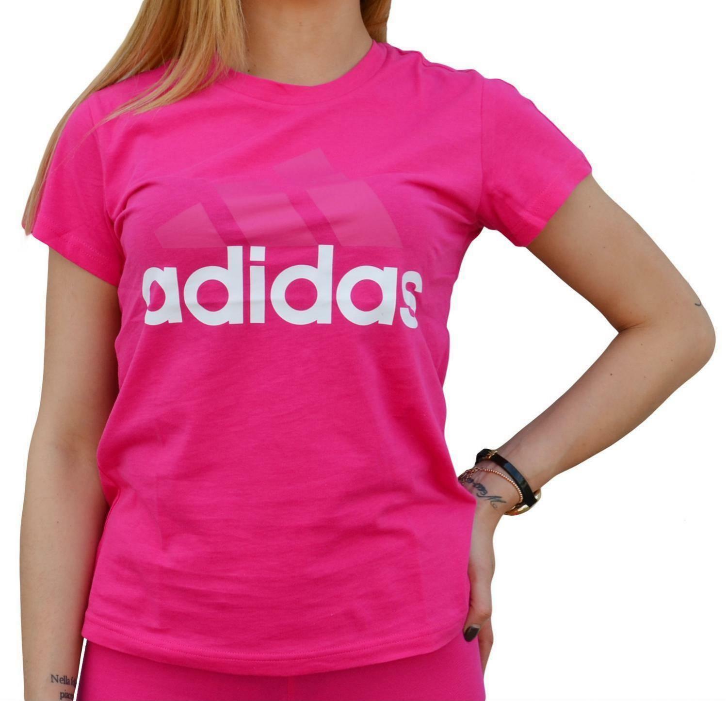 adidas adidas li sli tee t-shirt donna fucsia cz5773