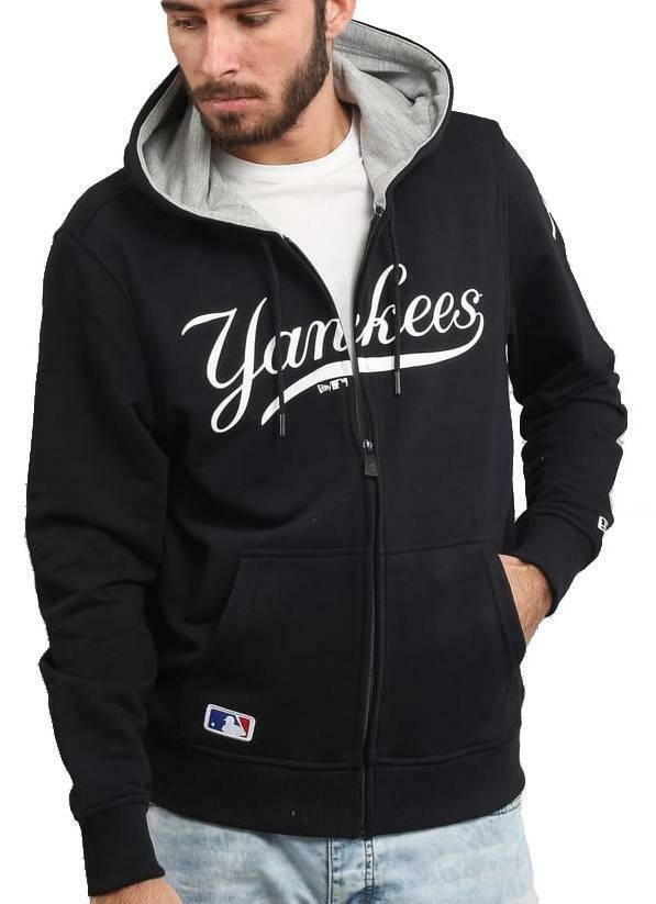new era new era team apparel fz hoody giacchetto uomo nero
