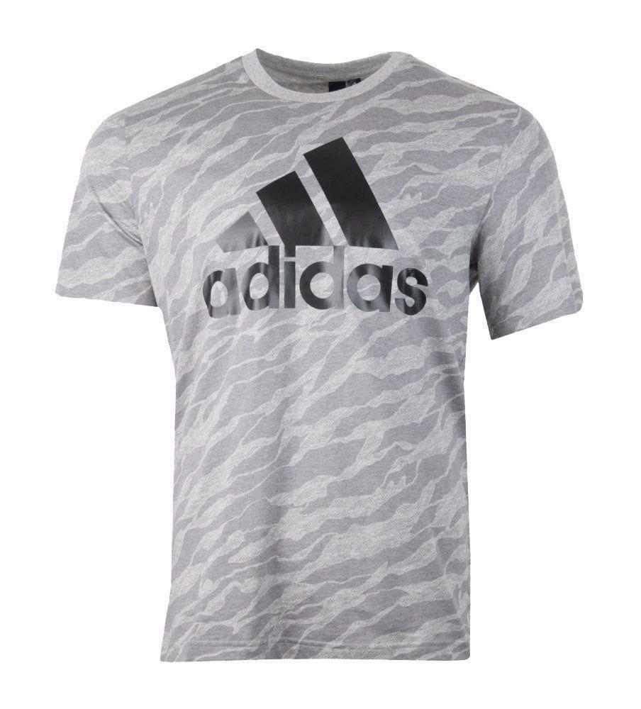adidas adidas ess aop t-shirt uomo grigia cy6310