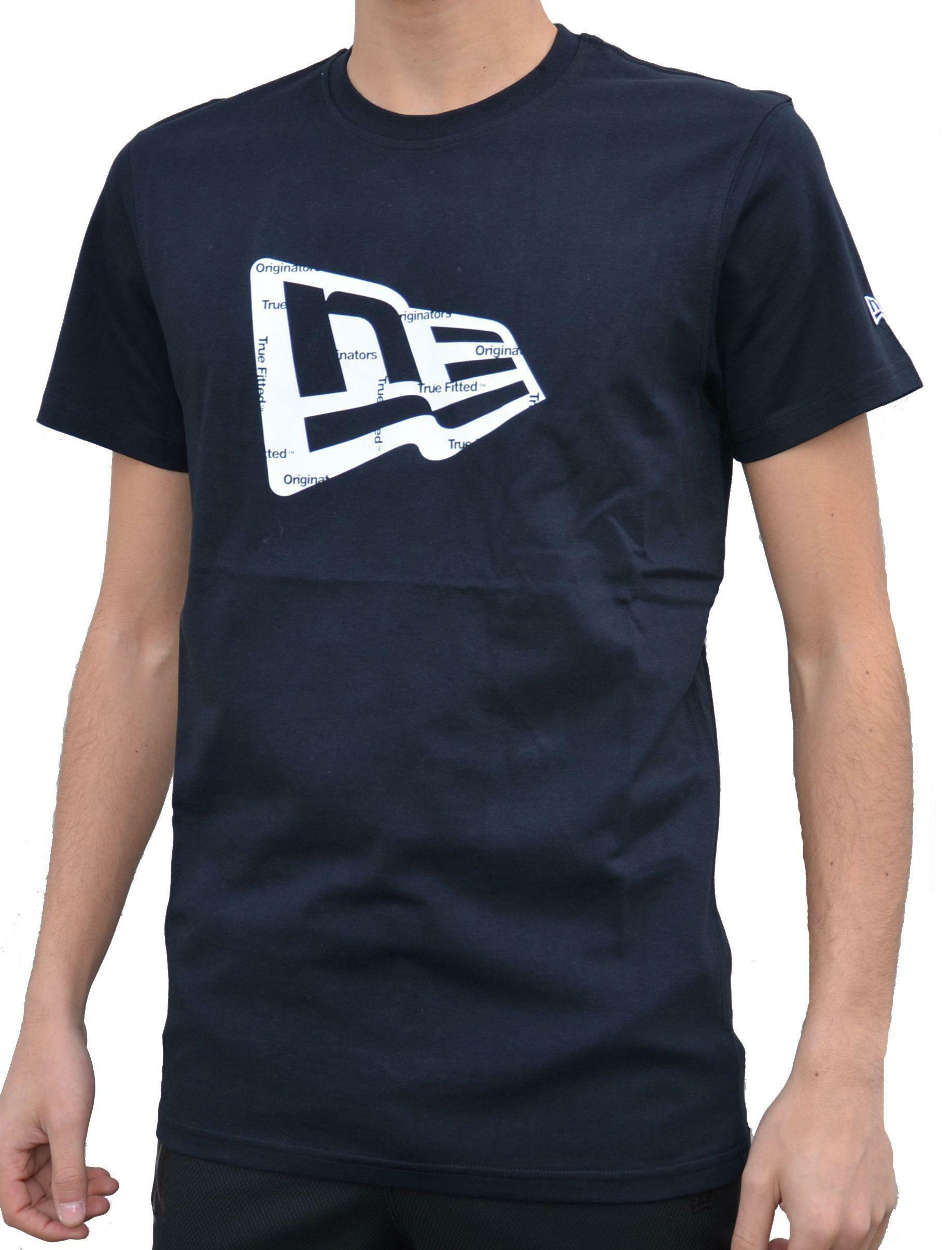 new era new era originators ne flag tee t-shirt uomo nera