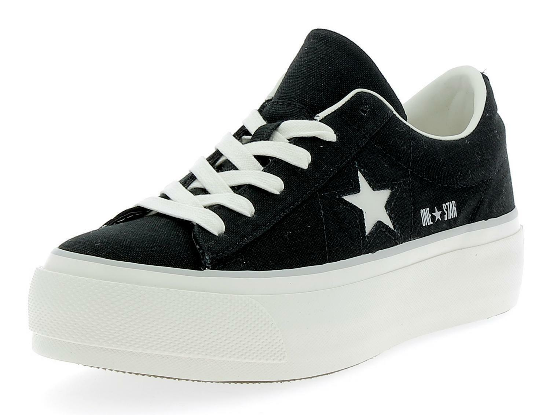 Converse One Star Platform Women s Sports Shoes Black  76cf1221b