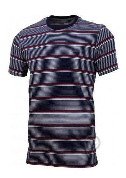 reebok reebok t shirt rigata uomo blu rossa bianca w07659