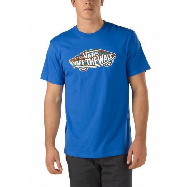 vans vans t shirt uomo logo fill blu 100% cotone v2o0j5x