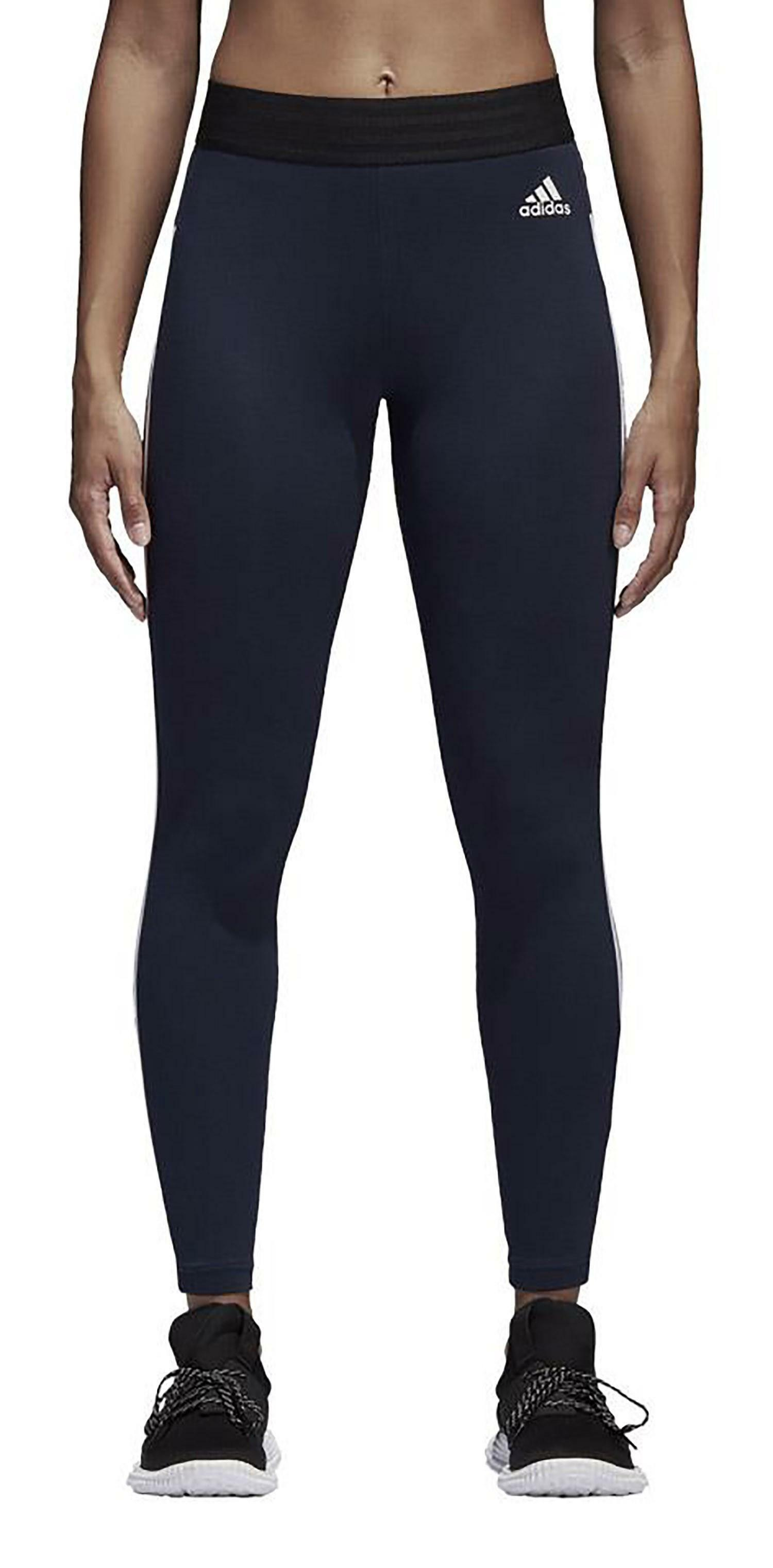 cheaper b89a7 26751 Adidas Ess 3S Tight Leggings Donna Blu CF8867
