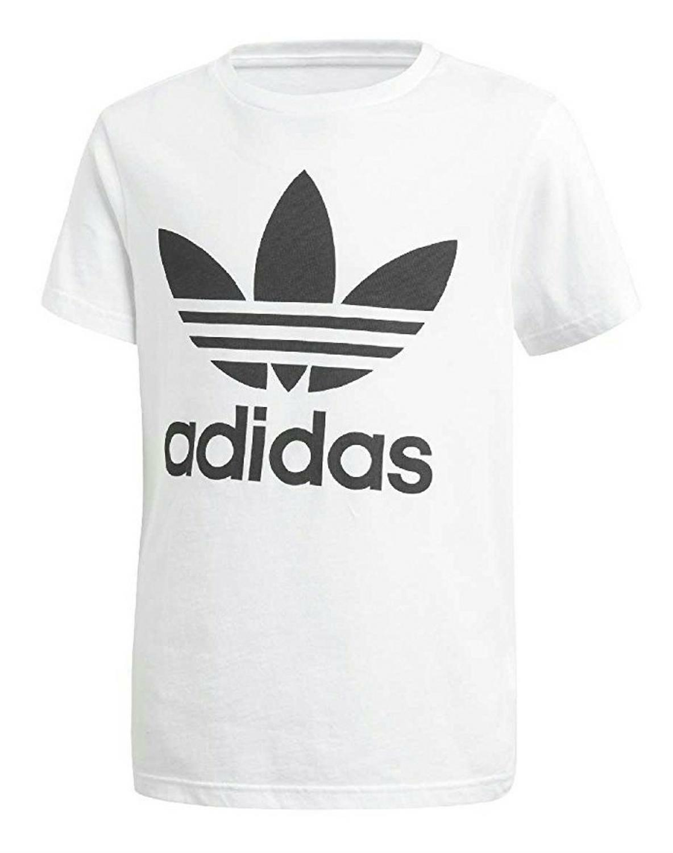 adidas adidas originals j trefoil t-shirt bambino bianca cf8546