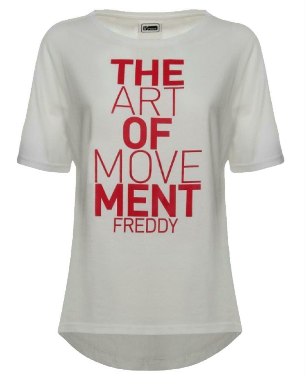 freddy t-shirt donna bianca wt249l03n00wf53