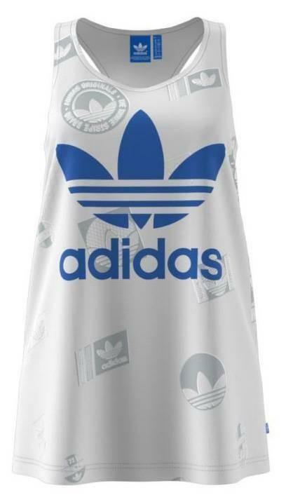 adidas adidas trefoil tank canotta donna bianca