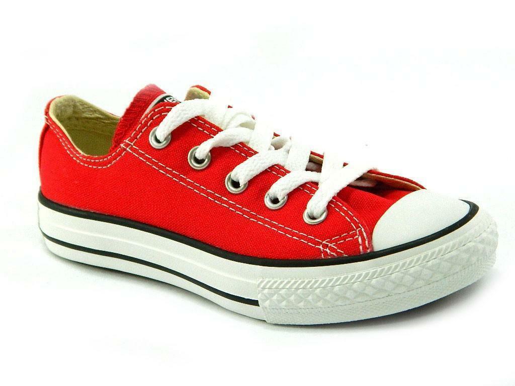 converse converse all star ct scarpa sneakers rossa red bassa low junior 3j236c