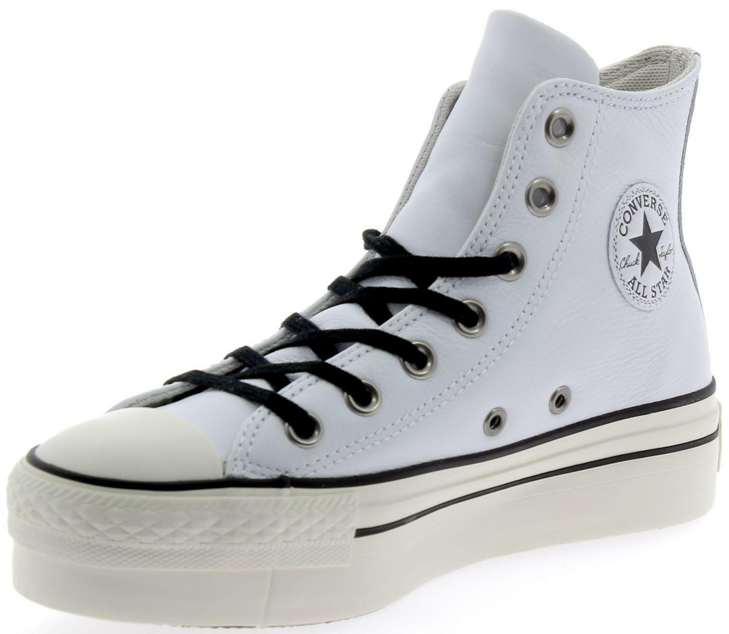 converse donna bianche in pelle