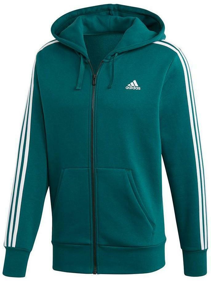 salvare 09d03 a9fbd Adidas essential 3s fz felpa verde uomo dn8800