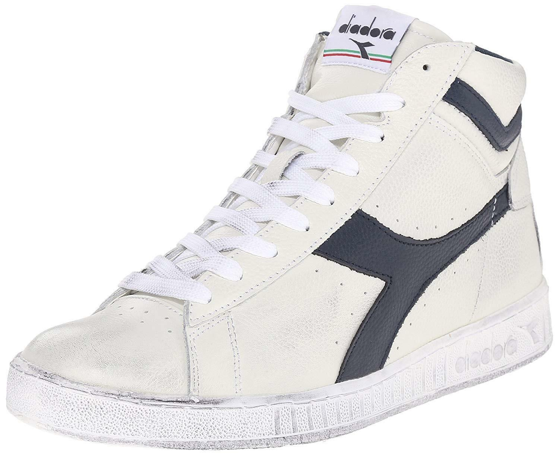 diadora diadora game l high waxed scarpe sportive uomo bianche blu 159657c5262