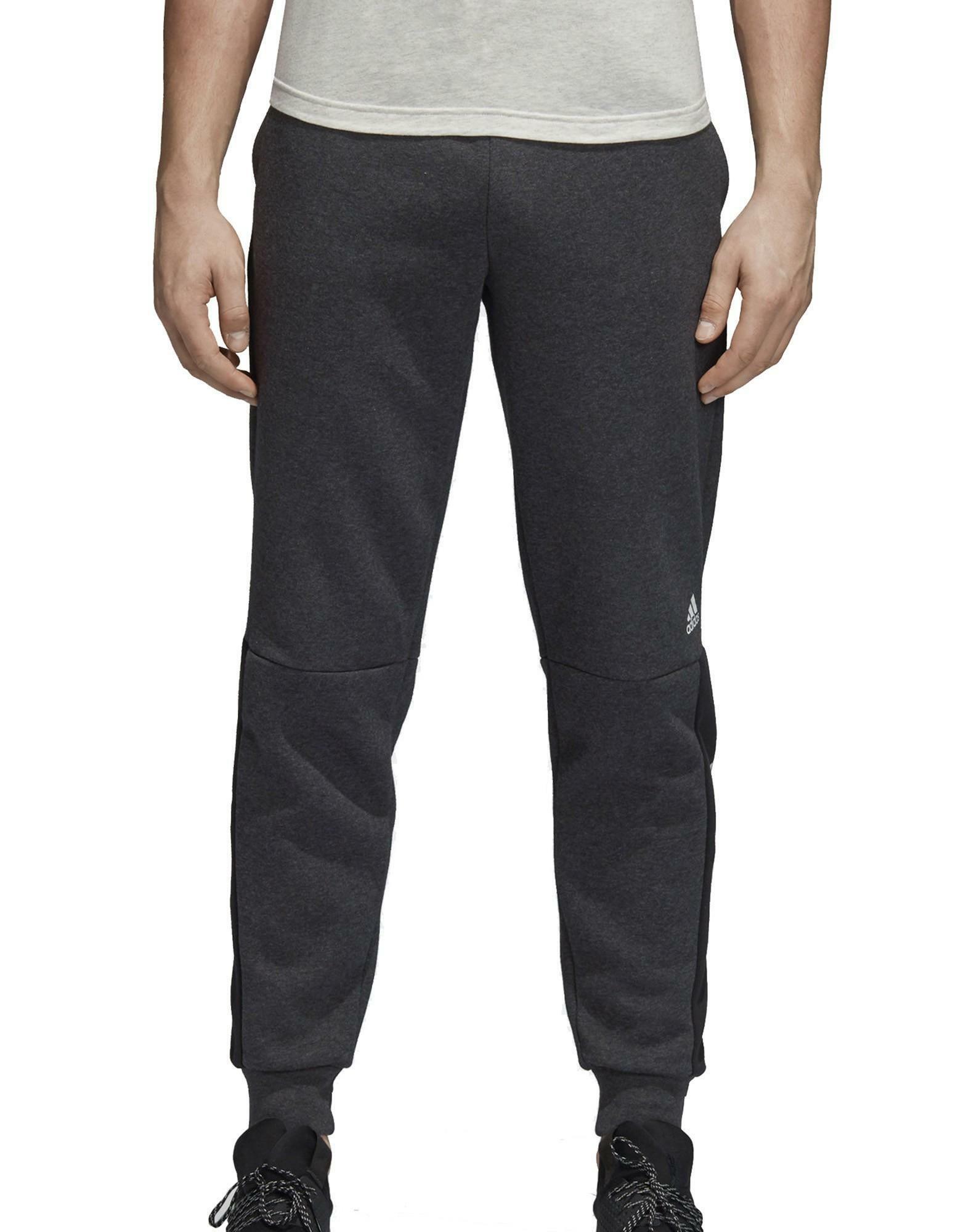 taglia 40 42fdf c4ee6 Adidas sid lgo pantaloni tuta uomo grigi cotone felpato dm4320