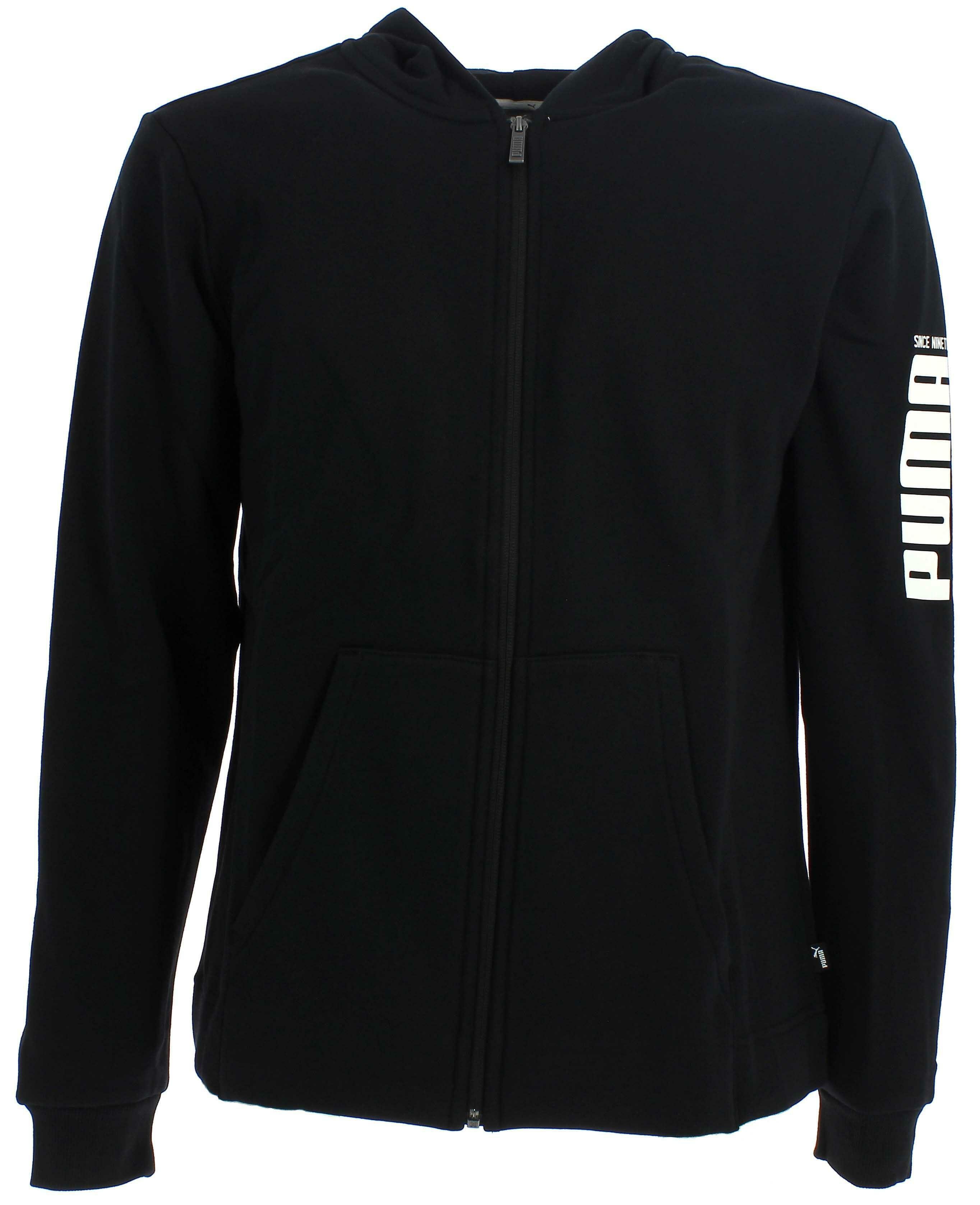 buy popular 6b956 ec312 Puma giacchetto bambino nero felpato 85243701