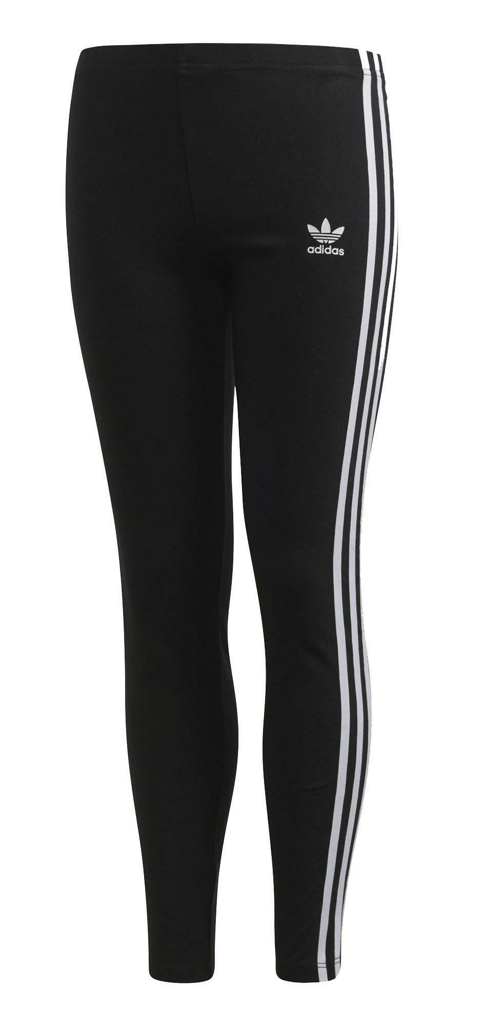 adidas adidas 3 stripes leggings neri bambina cd8411
