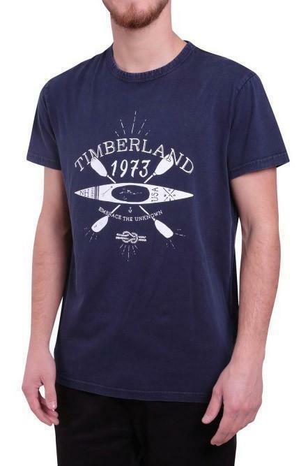 timberland timberland ss hand draw t-shirt uomo blu