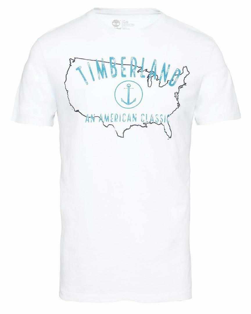 timberland timberland ss kbc river t-shirt uomo bianca
