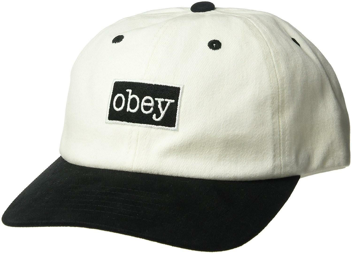 obey obey brooks 6 panel cappello bianco