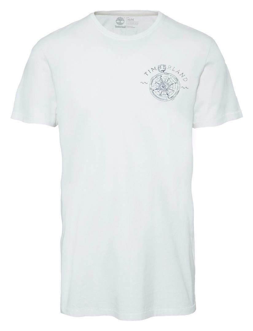 timberland timberland ss back logo t-shirt uomo bianca