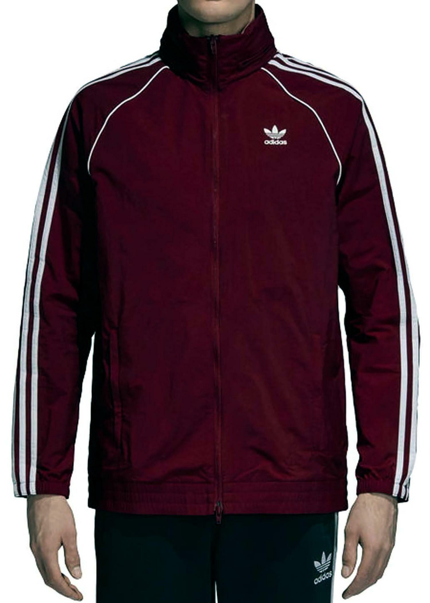 adidas originals adidas sst windbreaker giacca a vento uomo bordeaux dh5840
