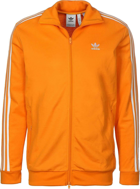 Adidas beckenbauer tt giacca sportiva arancione dh5821