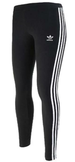 adidas adidas 3str leggings donna cotone elasticizzato nero