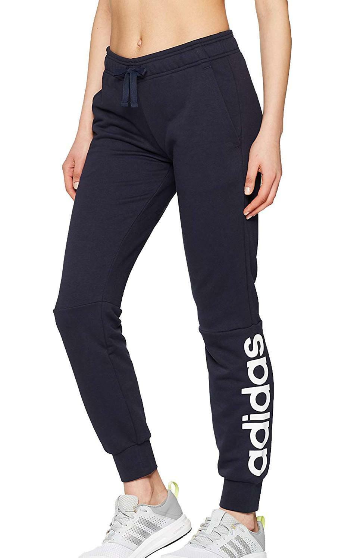 Dettagli su Adidas Pantaloni Tuta Donna Blu CF8858