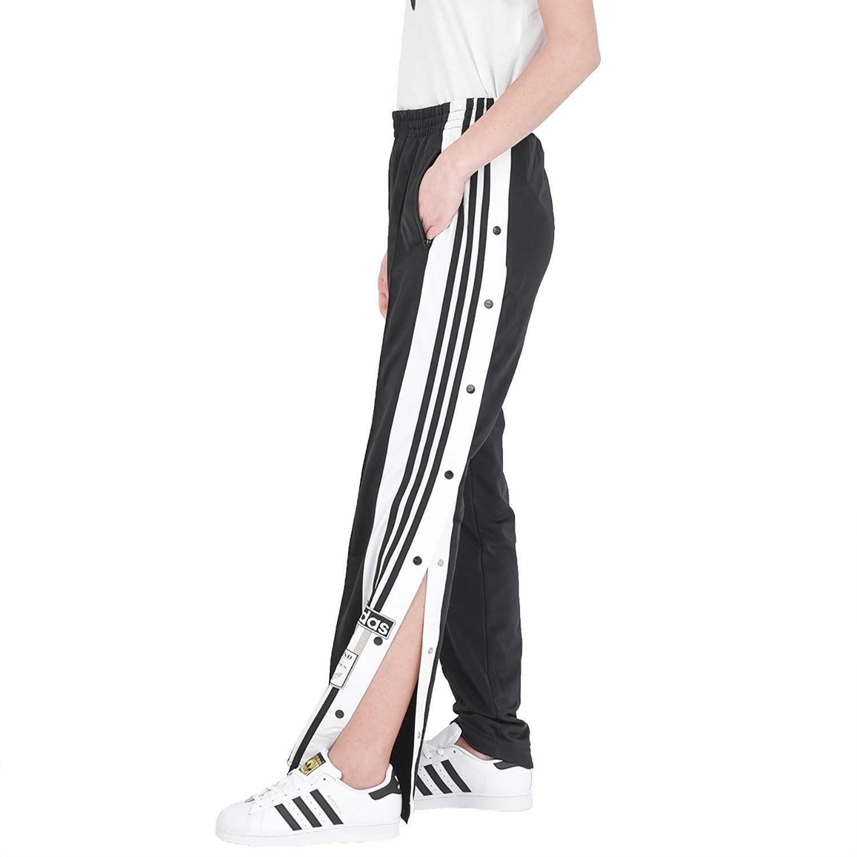 adidas adidas adibreak pant pantaloni bottoni neri donna cv8276