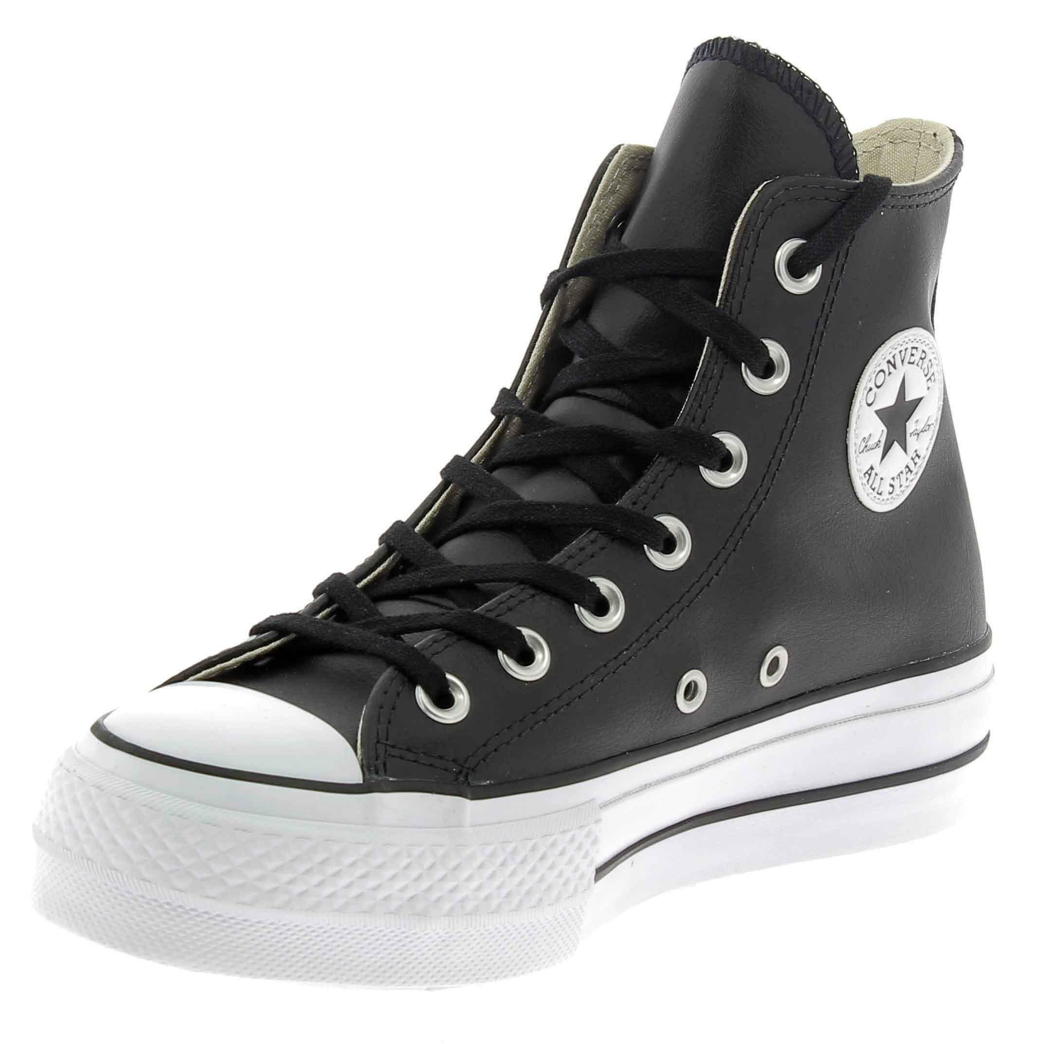 2converse in pelle nere