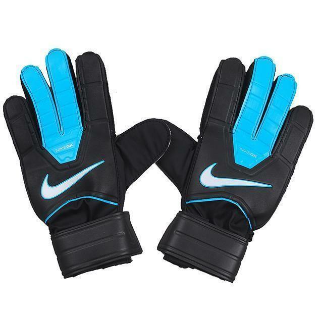 nike gk match guanti portiere calcio neri azzurri sgs0240