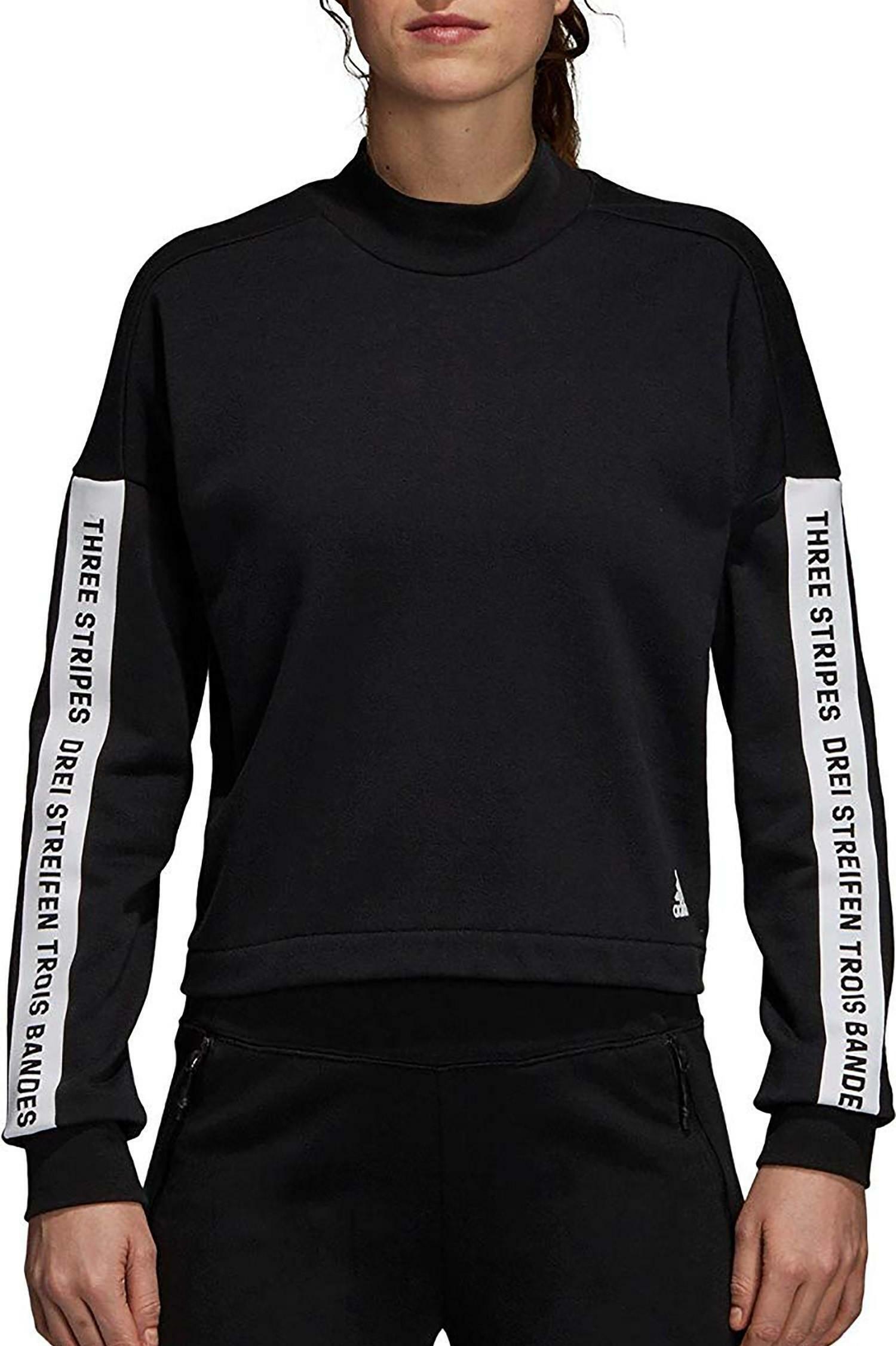 adidas adidas sid sweatshir felpa donna nera dm7279