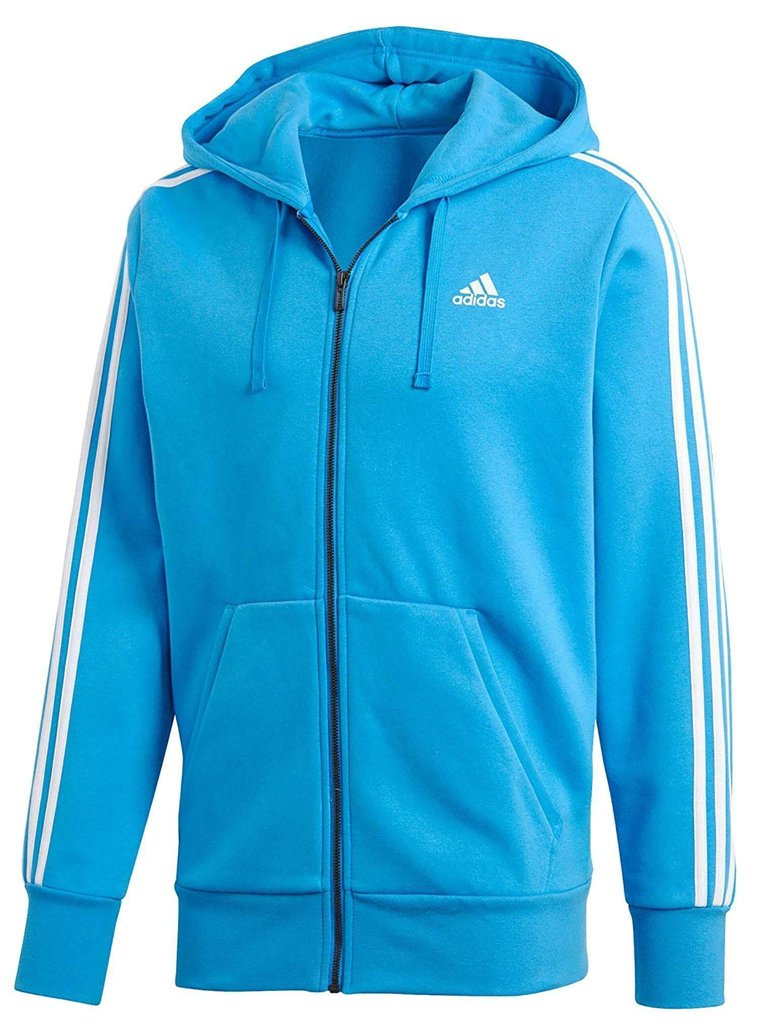 retail prices meet details for Details about ADIDAS Ess 3s Fz B Men's Blue Cotton Jacket Fleece DN8799