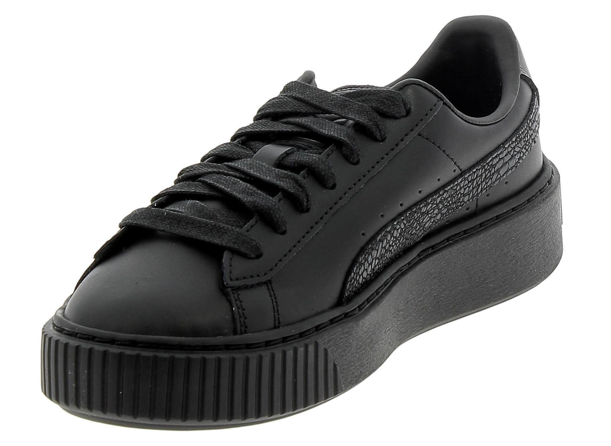 scarpe puma basket donna nere