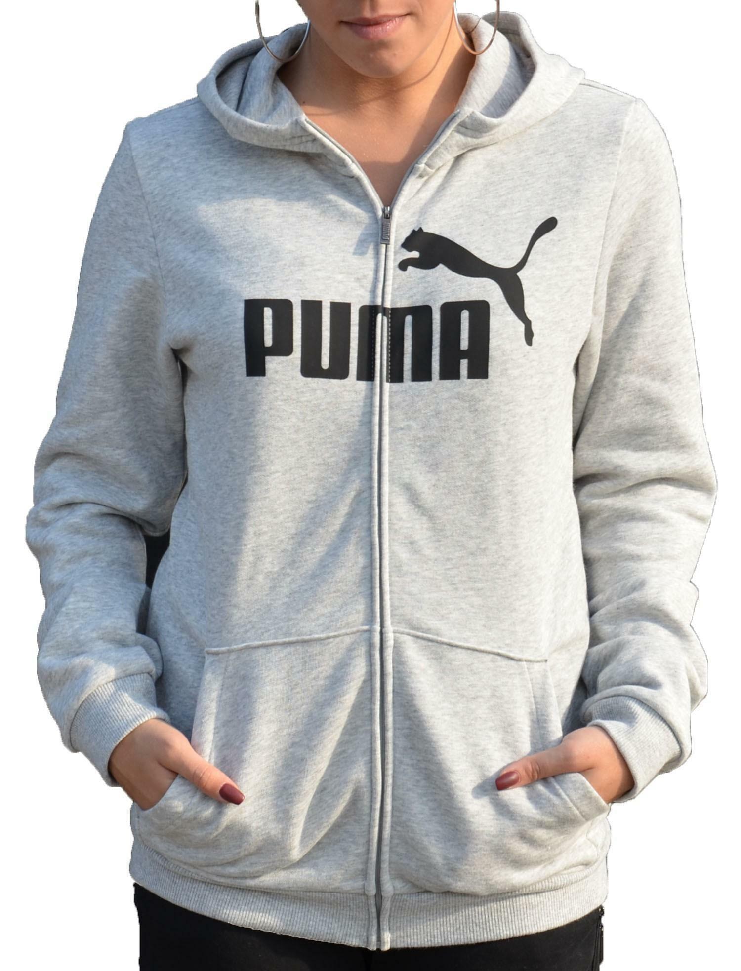 puma giacchetto bambina grigio felpato 85176004