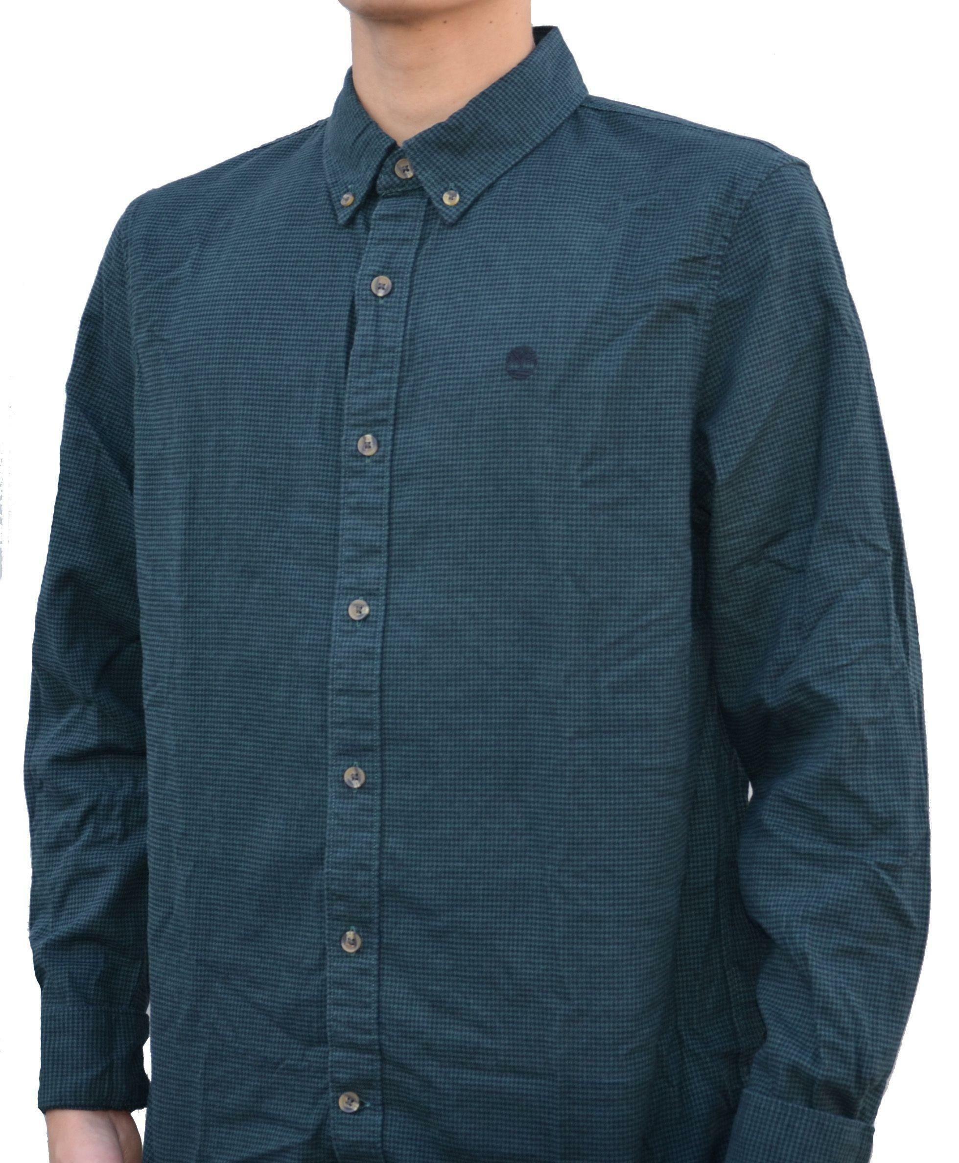 timberland timberland ls back rv camicia uomo a quadri verde