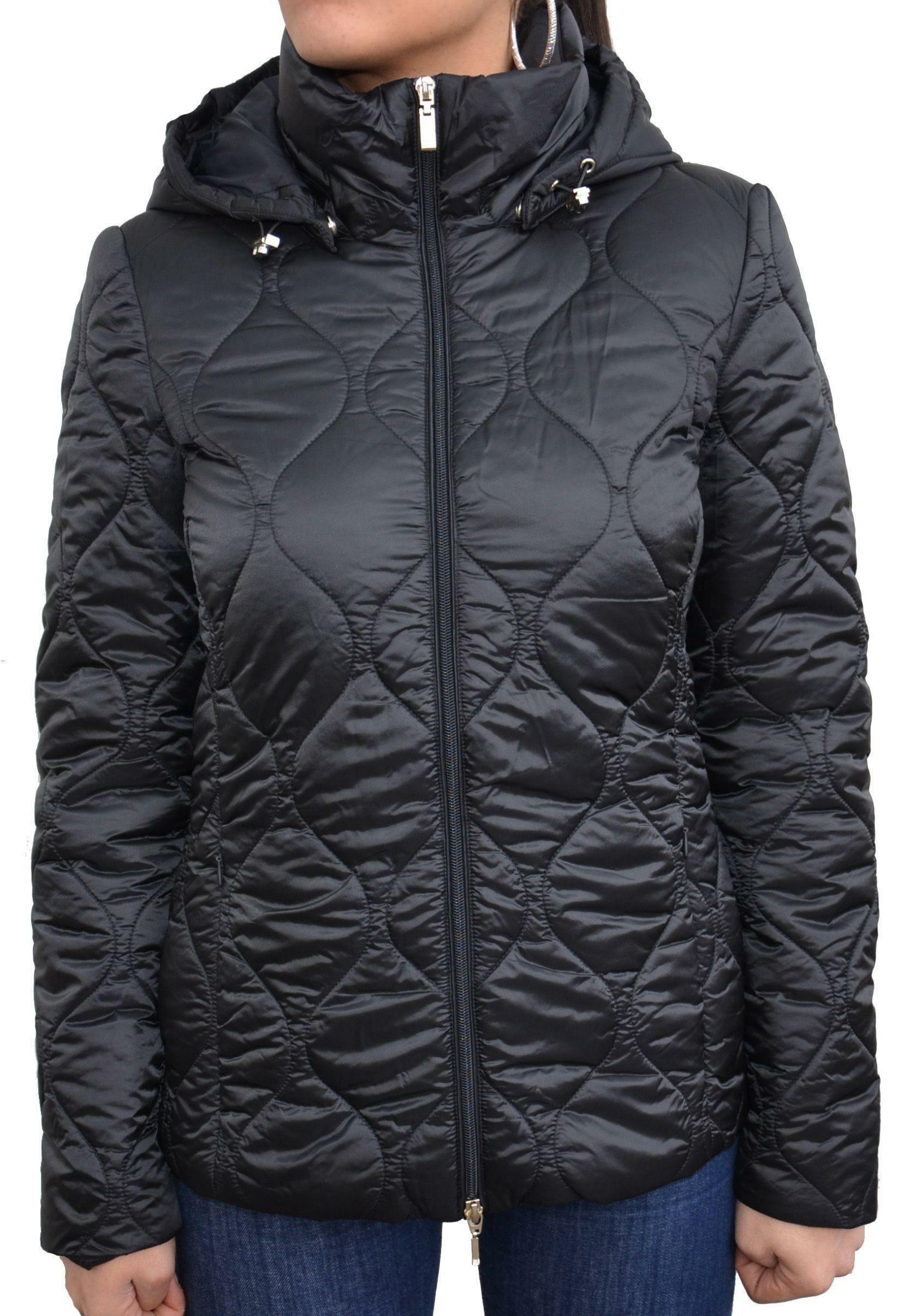 geox geox woman jacket black giubbotto donna nero w7420t