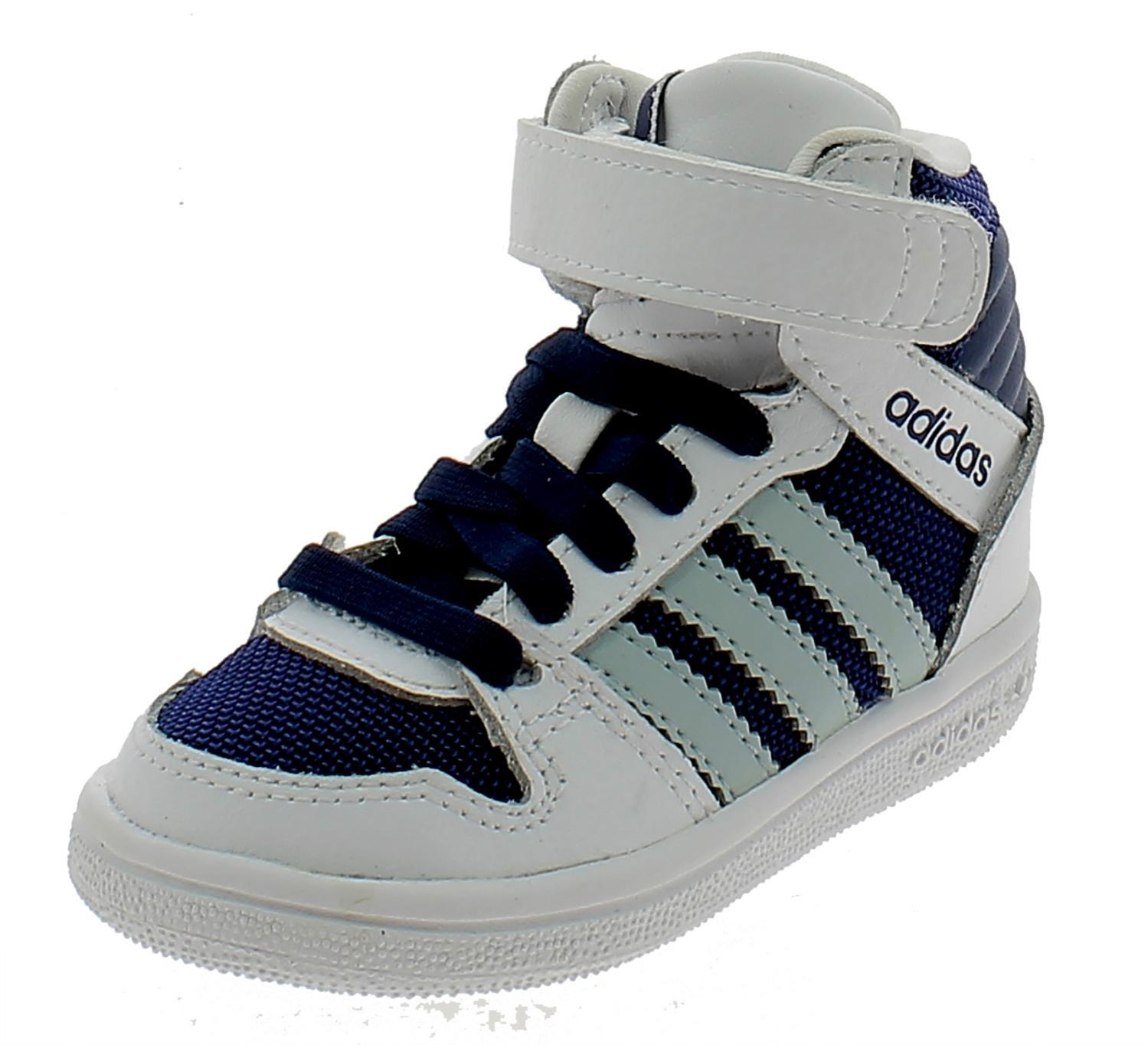 adidas adidas pro play 2 cf i scarpe sportive bambino bianco blu lacci strappi b25720