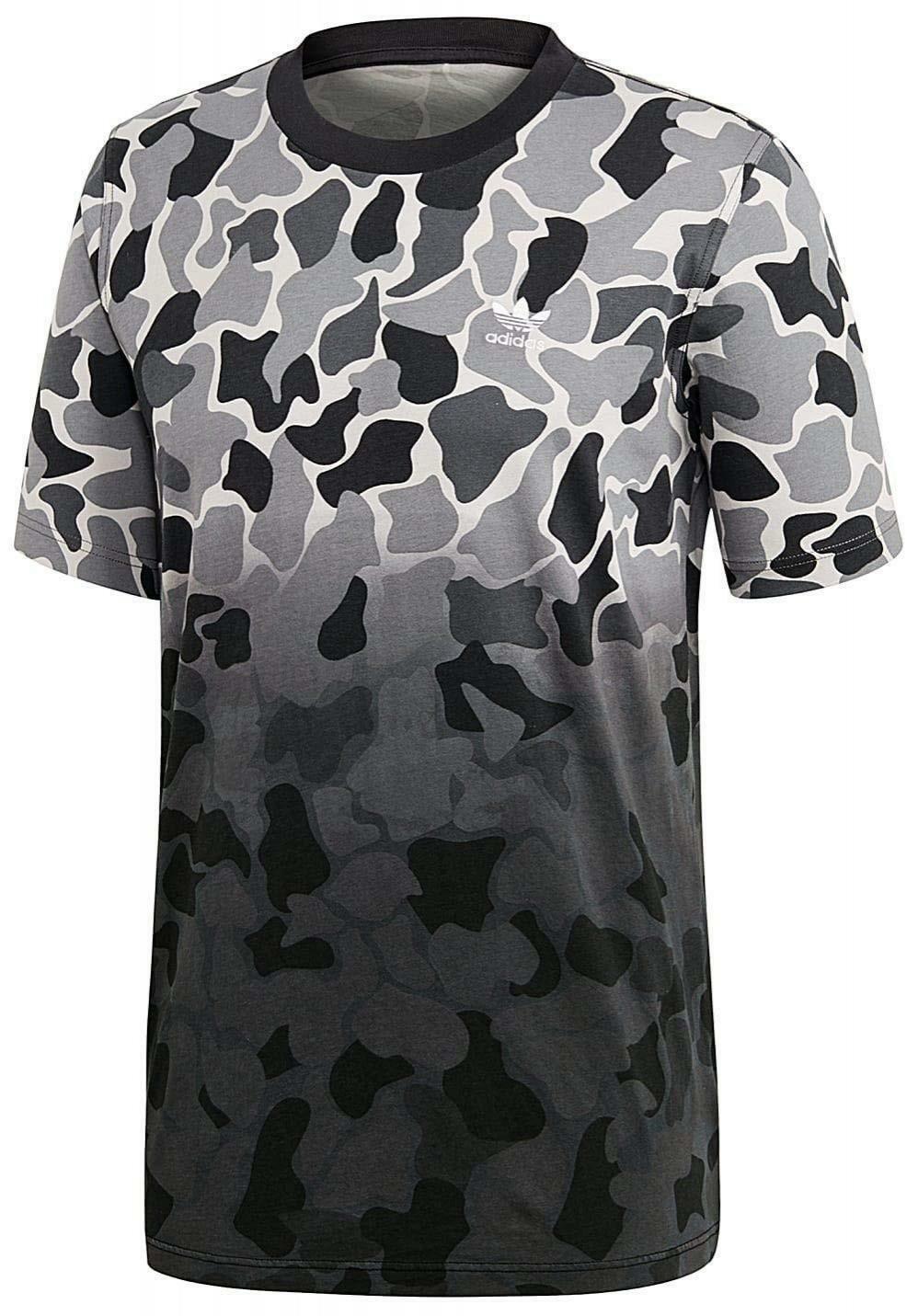 Details zu ADIDAS Camo Dipped T Shirt Herren Grau Camo DH4806