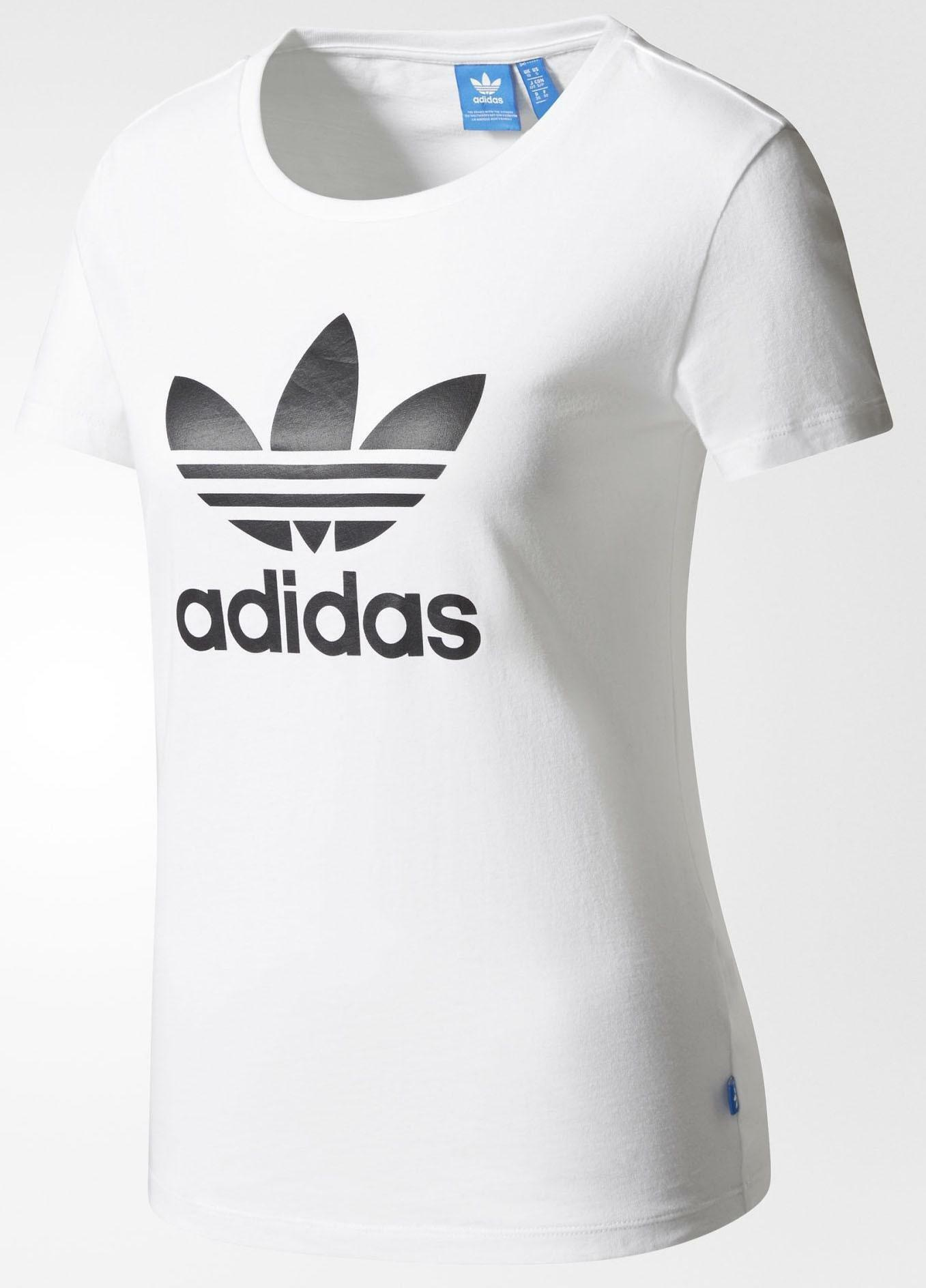 5fae51d31159 T Donna Adidas Trefoil Tee Bianca Shirt WEIbe9DY2H