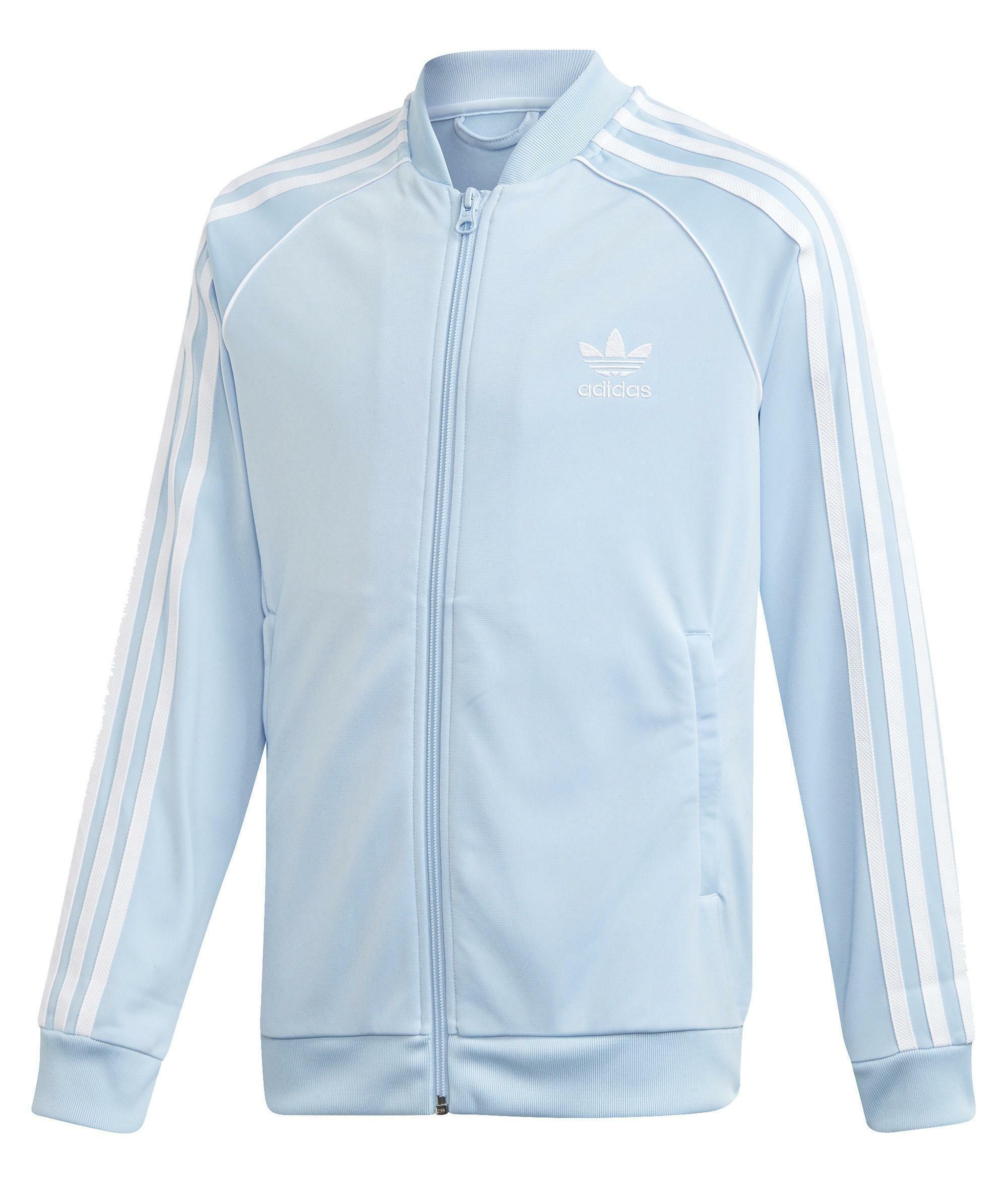 adidas superstar top giacchetto bambino celeste dw5190