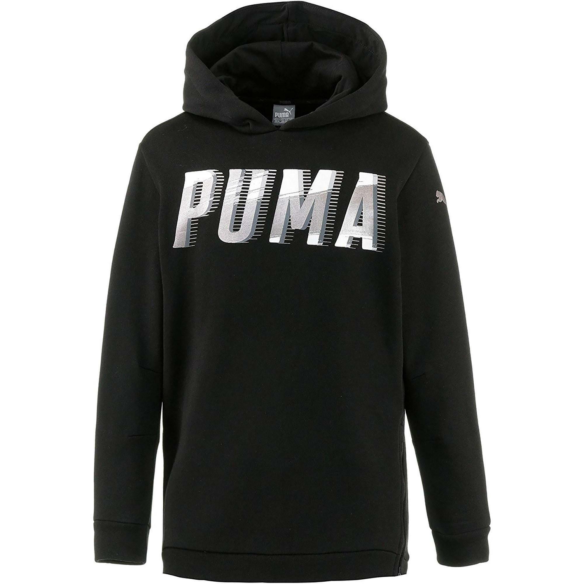 puma style hoody felpa cappuccio bambina nera 85183401