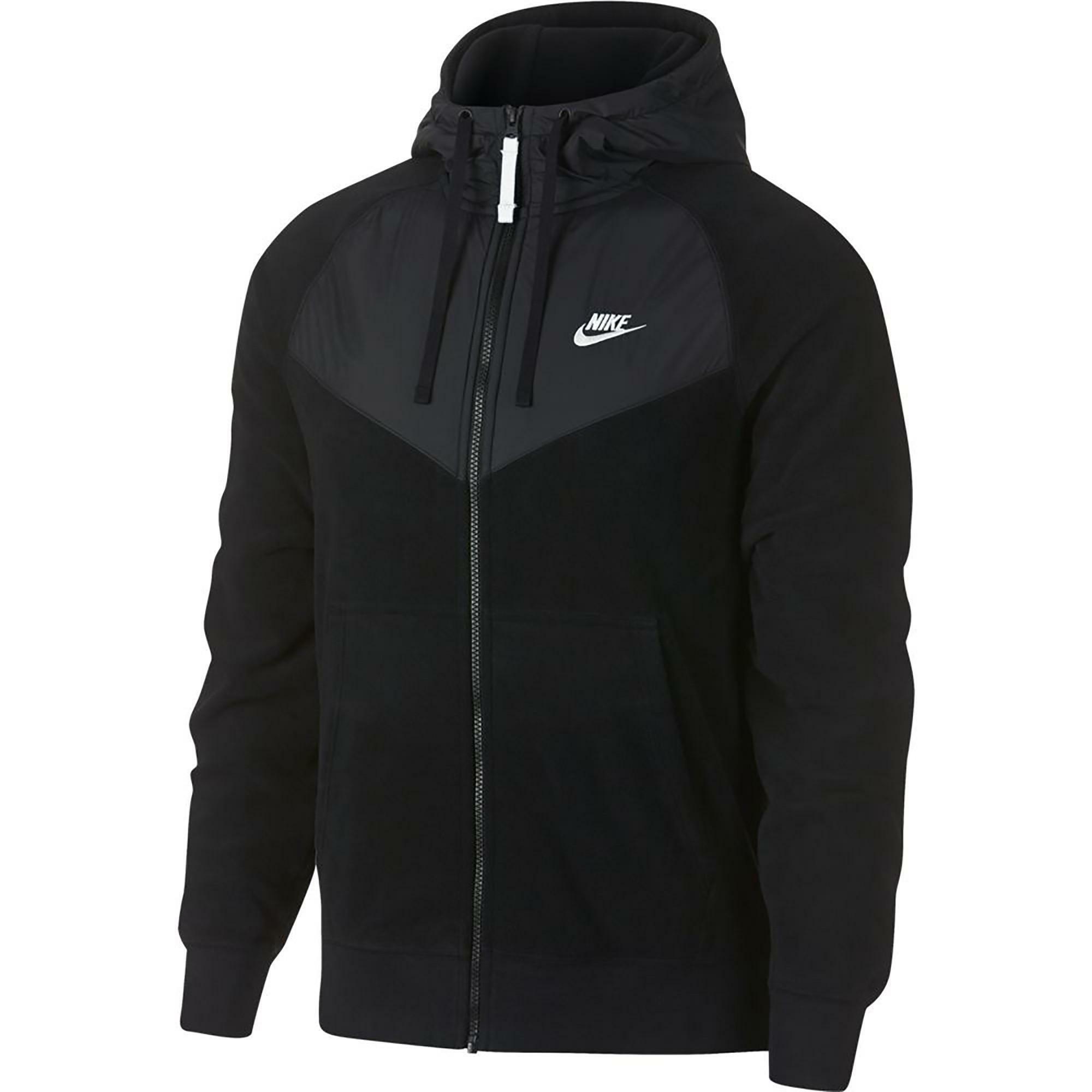 nike giacchetto in pile uomo nero 929114010
