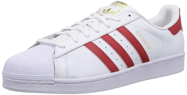 adidas adidas superstar foundation scarpe sportive uomo bianche pelle b27139