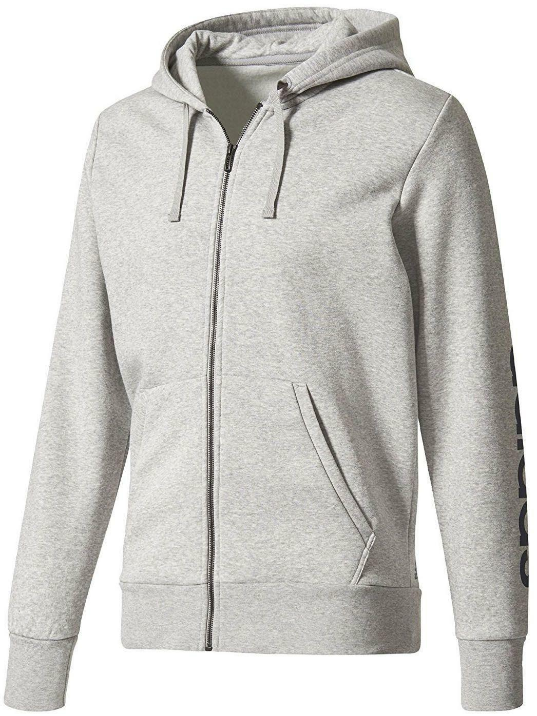 adidas adidas giacchetto uomo cotone felpato grigio bq9636