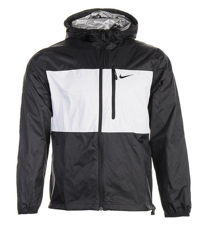 nike nike giacchetto ripiegabile nylon nero grigio 637741 010