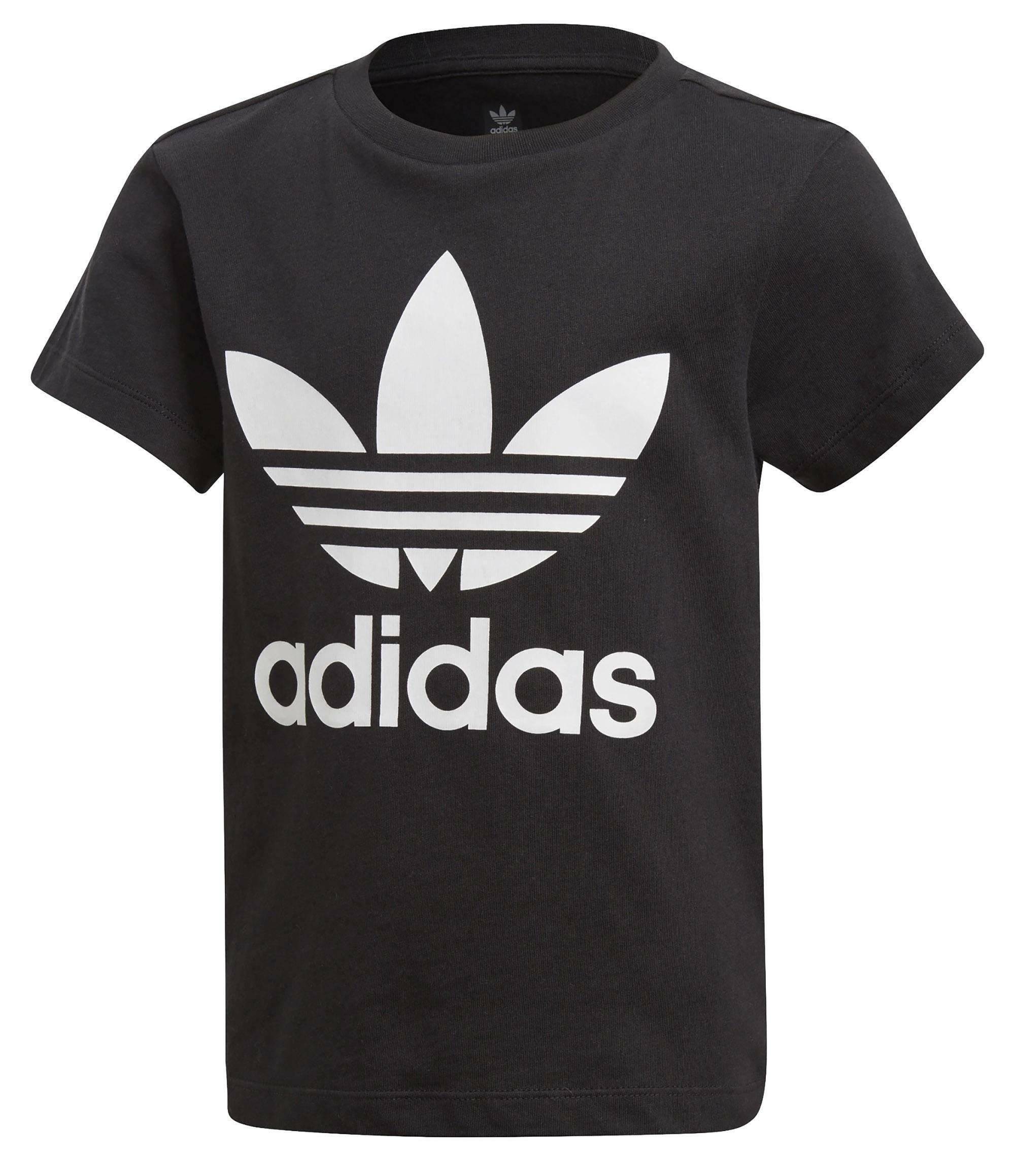 adidas trefoil tee t-shirt bambino nera dv2858
