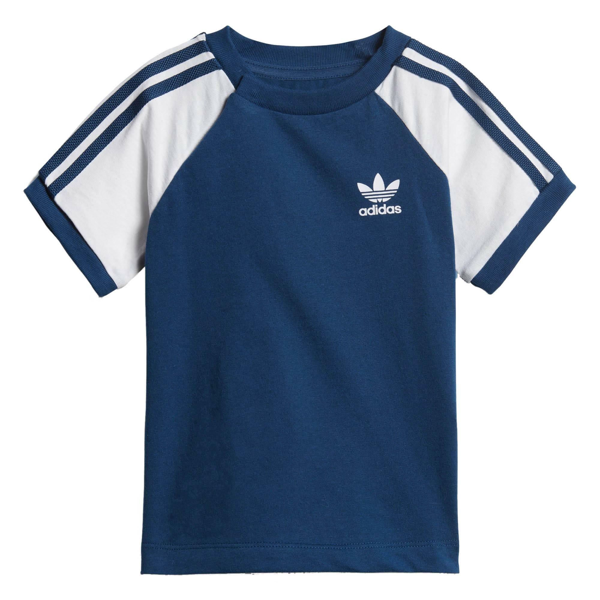adidas 3stripes tee t-shirt bambino blu dv2825